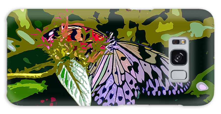 Butterfly Galaxy S8 Case featuring the photograph Butterfly In Garden by David Lee Thompson