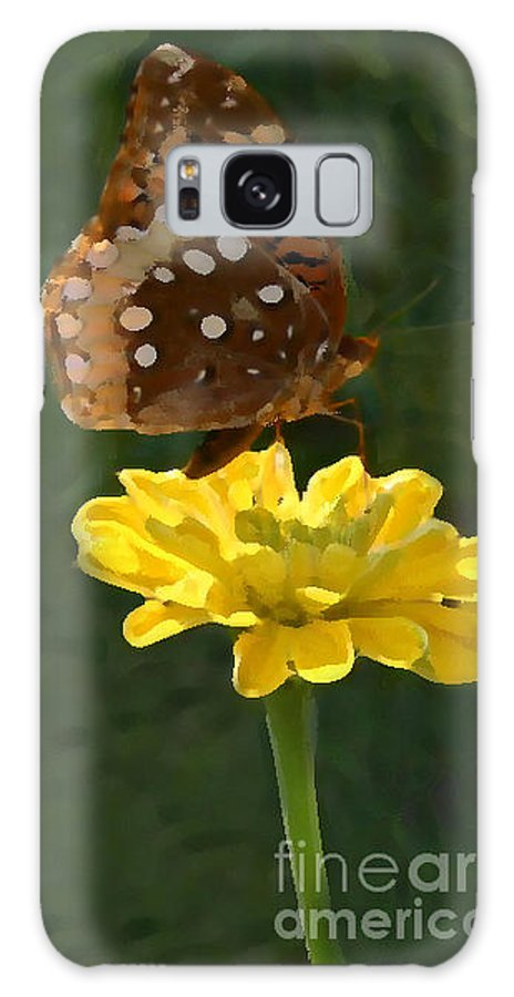 Butterfly Galaxy S8 Case featuring the photograph Butterfly On Yellow by Kim Henderson