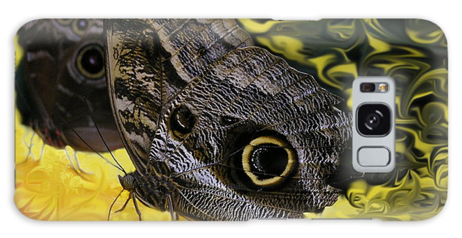 Butterfly Galaxy Case featuring the photograph Butterfly Reflections by Louise Magno