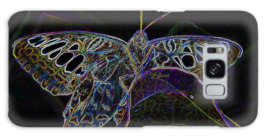 Art Galaxy S8 Case featuring the painting Butterfly Work Rws Number 6 by David Lee Thompson