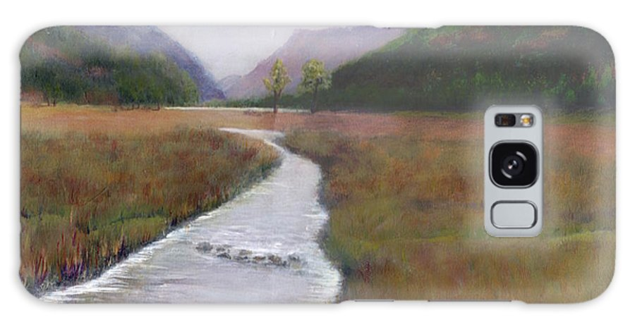 Buttermere. Lake District. English Landscape. Grass Galaxy S8 Case featuring the painting Buttermere In The Lake District by Kim Hamilton