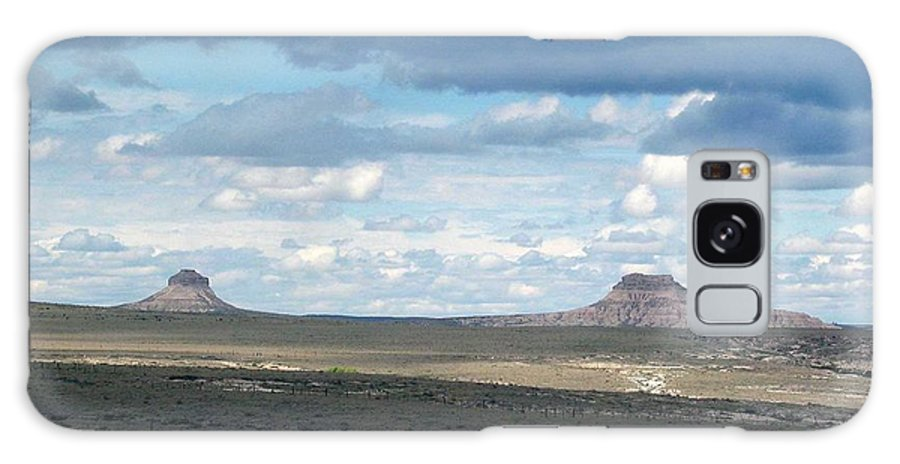Big Sky Galaxy S8 Case featuring the photograph Buttes by Margaret Fortunato