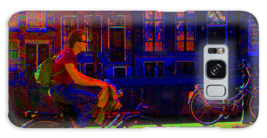 Scottish Art Galaxy S8 Case featuring the photograph By Bicycle Amsterdam by Rodger Insh