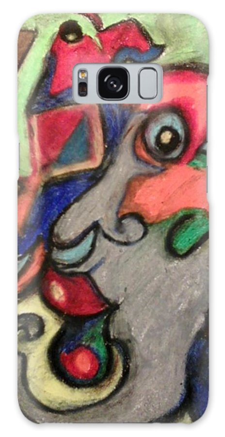 Abstact Galaxy S8 Case featuring the pastel by Derrick Hayes Abstract by Derrick Hayes