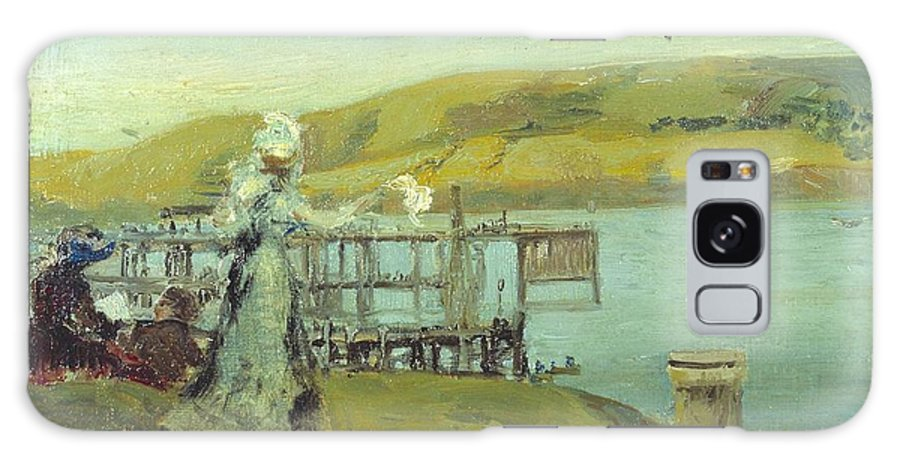 Charles Conder Galaxy S8 Case featuring the painting By The Sea Swanage by MotionAge Designs