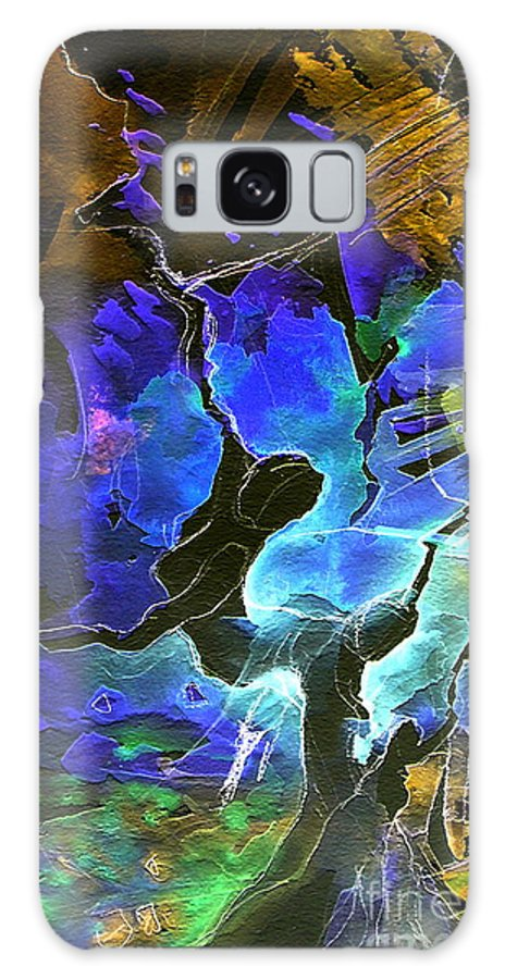 Miki Galaxy Case featuring the painting Bye by Miki De Goodaboom