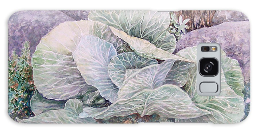 Leaves Galaxy S8 Case featuring the painting Cabbage Head by Valerie Meotti