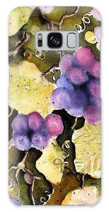 Grapes Galaxy S8 Case featuring the painting Cabernet Harvest 2 by Marti Green