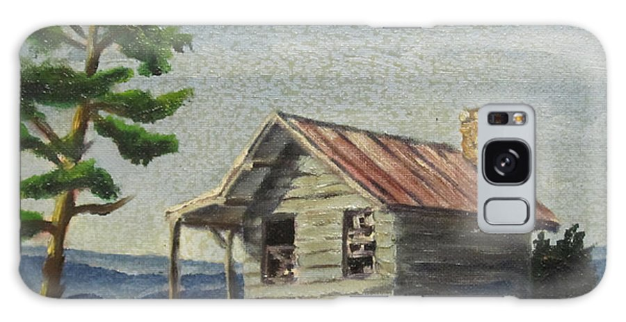 Farm Galaxy S8 Case featuring the painting Cabin by D T LaVercombe