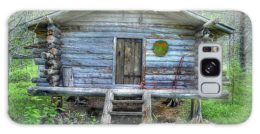 Rustic Galaxy Case featuring the photograph Cabin In Lapland Forest by Merja Waters