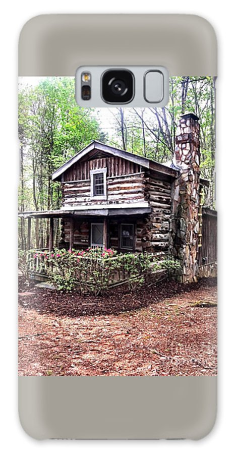 Cabin Galaxy S8 Case featuring the photograph Cabin In The Woods by Ally Flowers