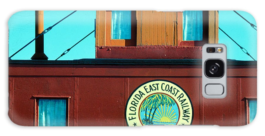 Florida Keys Train Railroad Galaxy S8 Case featuring the photograph Caboose by Carl Purcell