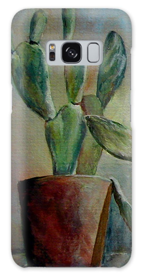 Flower Galaxy S8 Case featuring the painting Cactus 1 by Muriel Dolemieux