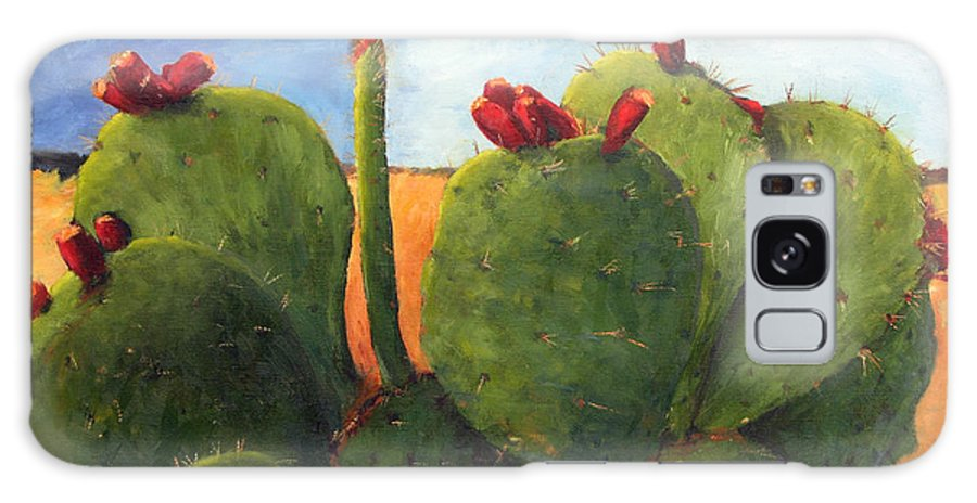 Cactus Galaxy S8 Case featuring the painting Cactus Pears by Chris Neil Smith