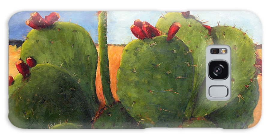 Cactus Galaxy Case featuring the painting Cactus Pears by Chris Neil Smith