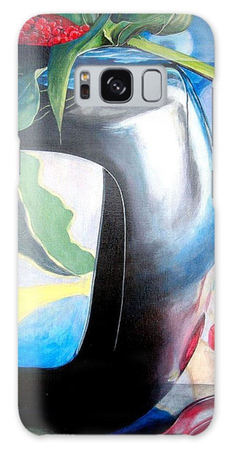 Nature-morte Galaxy S8 Case featuring the painting Cadre by Muriel Dolemieux