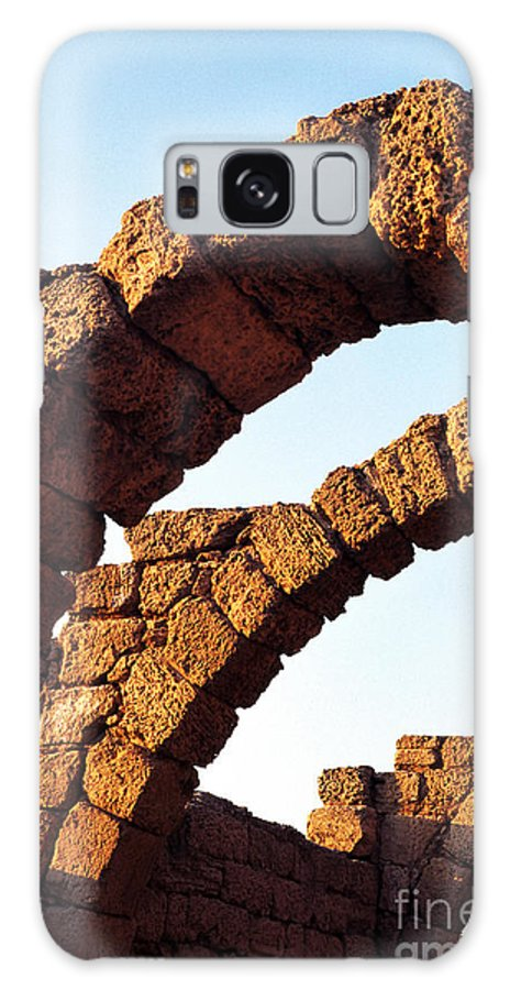 Israel Galaxy S8 Case featuring the photograph Caesarea Arches by Thomas R Fletcher