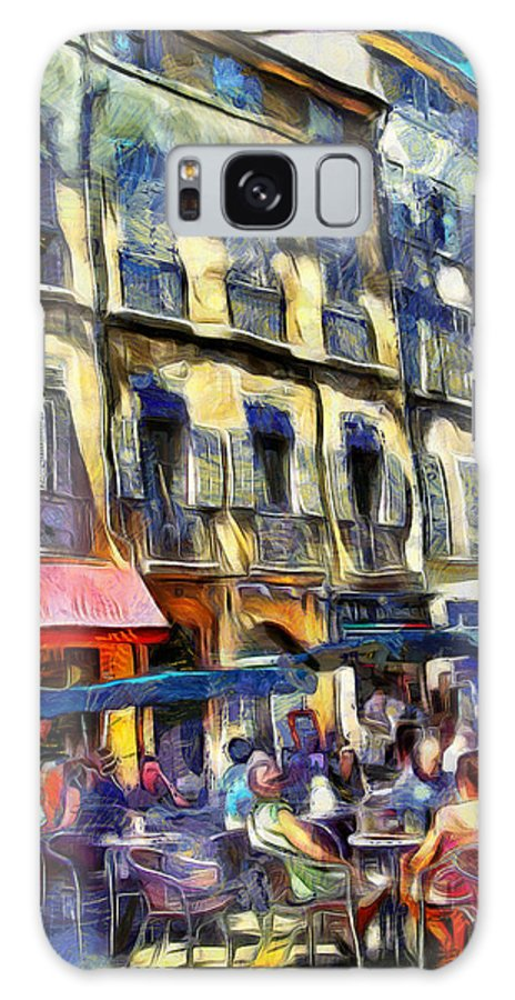 Cafes Galaxy S8 Case featuring the photograph Cafe 2 Provence by PhotoArt By Gretchen