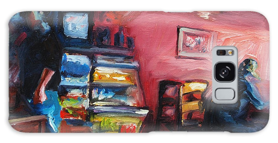 Cafe Galaxy Case featuring the painting Cafe Boulange by Rick Nederlof