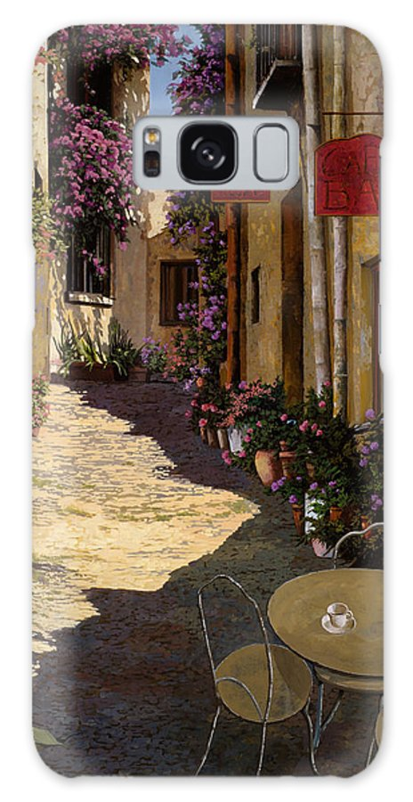 Caffe Galaxy S8 Case featuring the painting Cafe Piccolo by Guido Borelli
