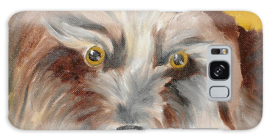 Dog Galaxy S8 Case featuring the painting Cairn Terrier by Susan Kubes