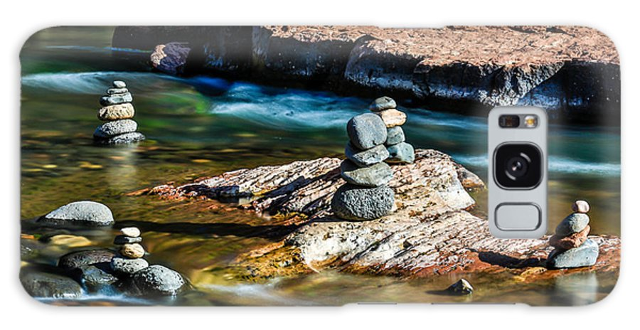 Arizona Galaxy S8 Case featuring the photograph Cairns In The Creek by Dennis Swena