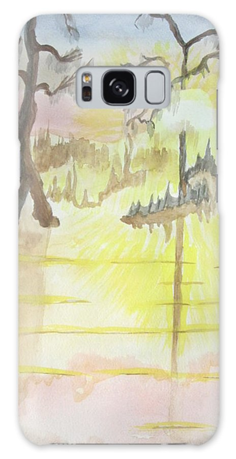 Landscape Watercolor Galaxy S8 Case featuring the painting Cajun Sunrise by Warren Thompson