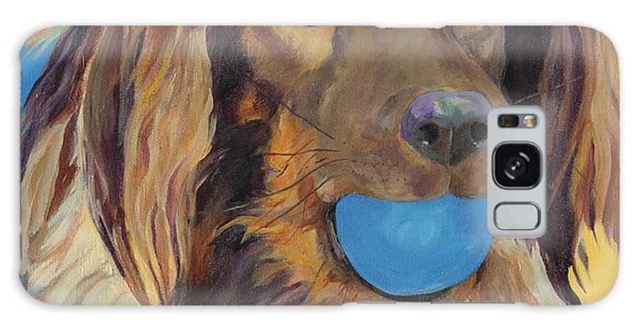 Dog Art Galaxy S8 Case featuring the painting Caleigh by Pat Saunders-White