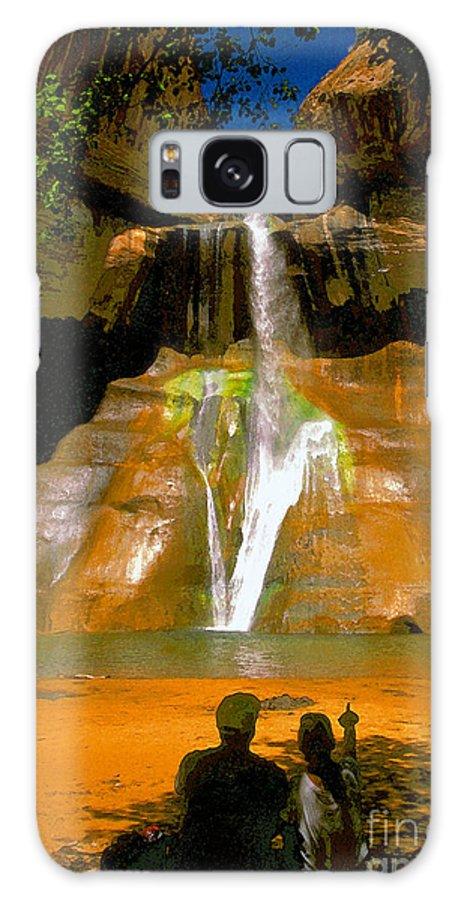 Calf Creek Falls Utah Galaxy S8 Case featuring the painting Calf Creek Falls Utah by David Lee Thompson