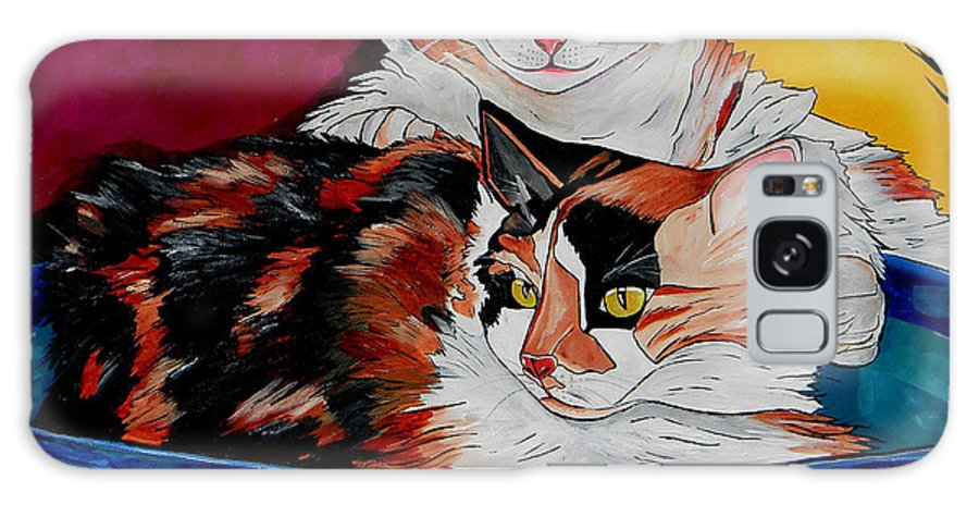 Cat Galaxy S8 Case featuring the painting Calico And Et by Patti Schermerhorn