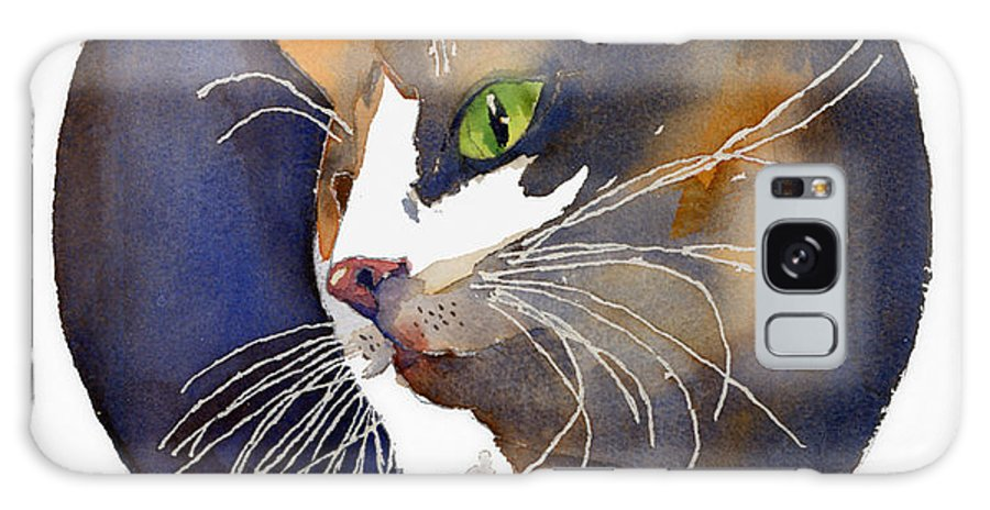 Cat Galaxy S8 Case featuring the painting Calico by Arline Wagner