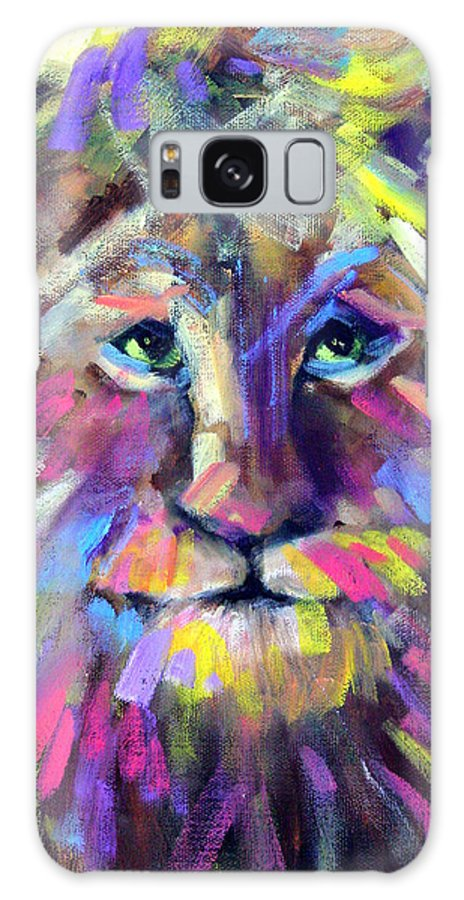 Lions Galaxy Case featuring the painting Calico Cat by Sally Seago