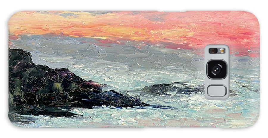 Seascape Galaxy S8 Case featuring the painting California Coast by Gail Kirtz