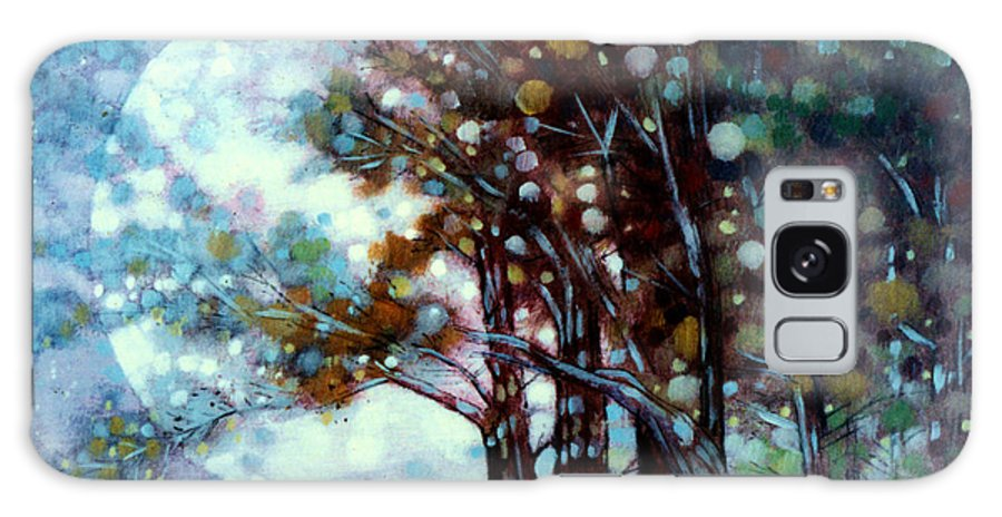 Landscape Galaxy Case featuring the painting California Cypress by John Lautermilch