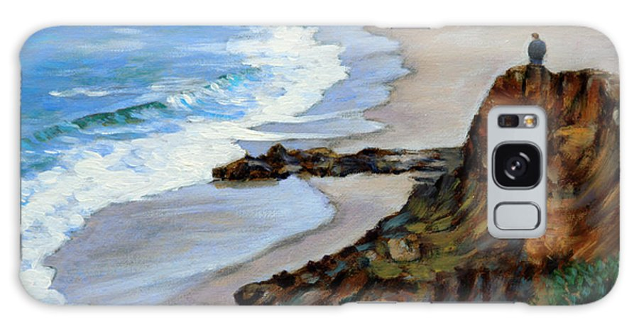 Landscape Galaxy Case featuring the painting California off Hwy One by John Lautermilch