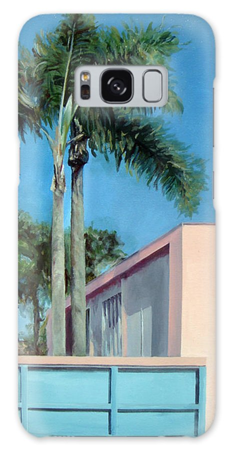 Landscape Painting Galaxy S8 Case featuring the painting Californie 1 by Muriel Dolemieux