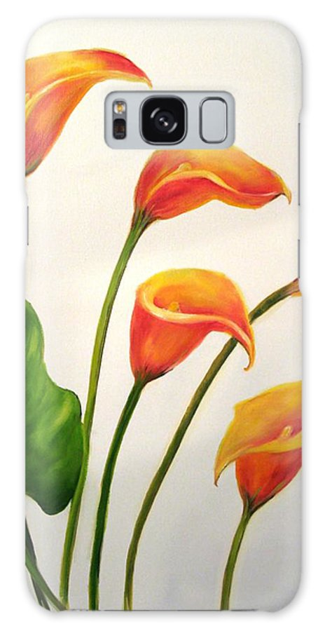 Calla Lilies Galaxy S8 Case featuring the painting Calla Lilies by Carol Sweetwood