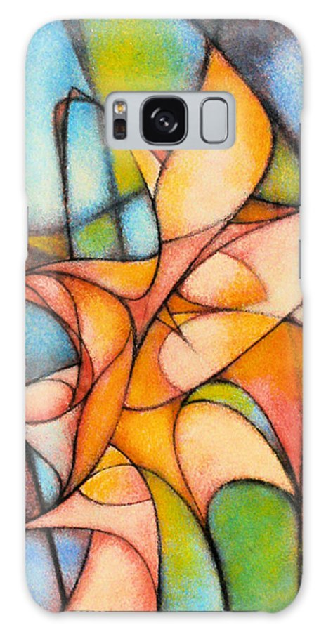 Contemporary Galaxy Case featuring the painting Calla Lillies by Kevin Lawrence Leveque
