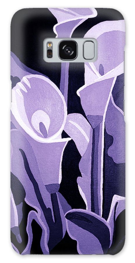 Calla Lillies Galaxy S8 Case featuring the painting Calla Lillies Lavender by Angelina Vick