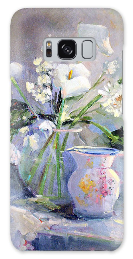 Flowers Galaxy Case featuring the painting Calla Lilly by Sally Seago