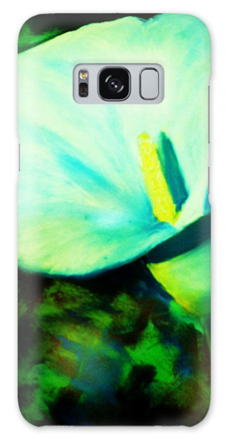 White Calla Lily Galaxy S8 Case featuring the painting Calla Lily by Melinda Etzold