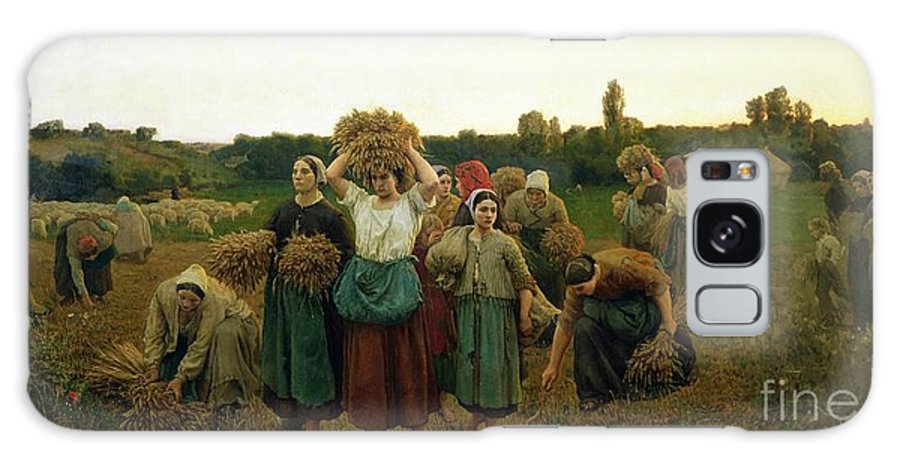 Calling Galaxy S8 Case featuring the painting Calling In The Gleaners by Jules Breton