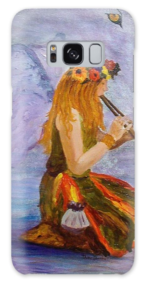 Galaxy S8 Case featuring the painting Calling The Wolf Spirit by Tami Booher