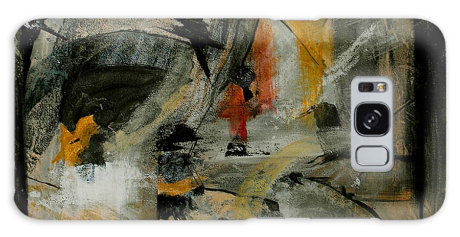 Abstract Galaxy S8 Case featuring the painting Calm Out Of Chaos by Ruth Palmer
