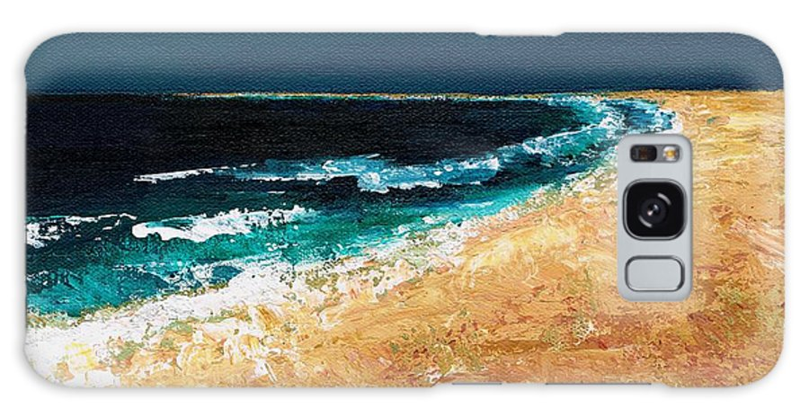 Ocean Tide Galaxy Case featuring the painting Calming Waters by Frances Marino