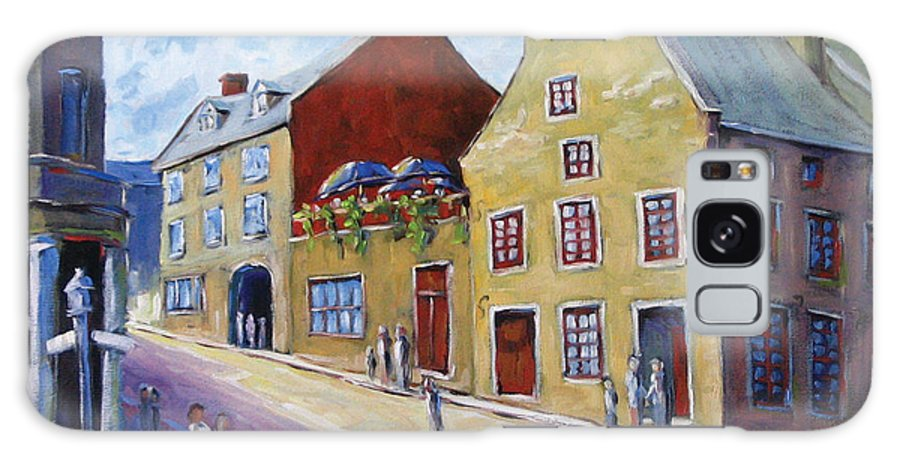 Rural Galaxy S8 Case featuring the painting Calvet House Old Montreal by Richard T Pranke
