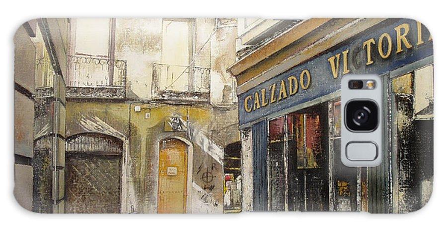 Calzados Galaxy Case featuring the painting Calzados Victoria-leon by Tomas Castano