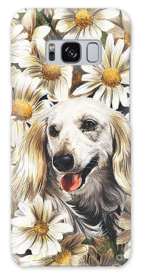 Dachshund Galaxy S8 Case featuring the drawing Camoflaged by Barbara Keith