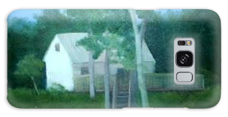 Trees Galaxy Case featuring the painting Camp by Sheila Mashaw