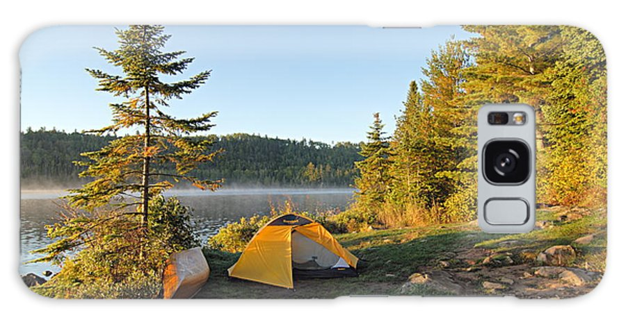 Boundary Waters Canoe Area Wilderness Galaxy S8 Case featuring the photograph Campsite On Alder Lake by Larry Ricker